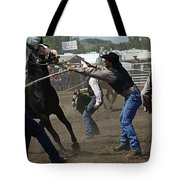 Rodeo Wild Horse Race Tote Bag