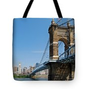 Roebling Bridge To Cincinnati Tote Bag