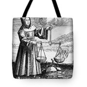 Roger Bacon Conducting An Experiment Tote Bag