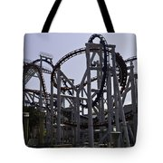Roller Coaster Rides Inside The Universal Studio Park In Sentosa Tote Bag
