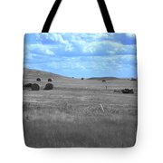 Rolling Farmland In Blue Light Tote Bag