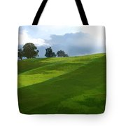 Rolling Green Fields At End Of Day  Tote Bag