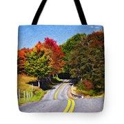Rolling Thru West Virginia Impasto Tote Bag