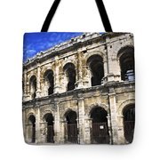 Roman Arena In Nimes France Tote Bag