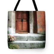 Roman Door And Steps Rome Italy Tote Bag