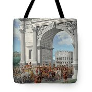 Roman Soldiers Lead Chained Captives Tote Bag