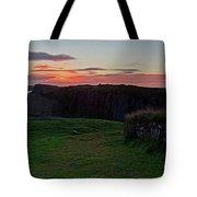 Roman Wall Sunrise Tote Bag