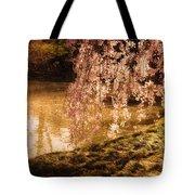 Romance - Sunlight Through Cherry Blossoms Tote Bag