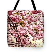 Romantic Cherry Blossoms Tote Bag