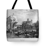 Rome: Ponte Rotto, 1833 Tote Bag by Granger