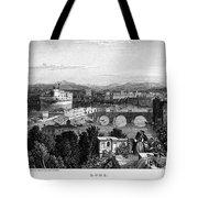 Rome: Scenic View, 1833 Tote Bag