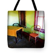 Room With Red Chair Tote Bag