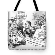 Roosevelt Cartoon, 1934 Tote Bag