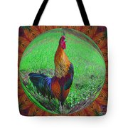 Rooster Colors Tote Bag
