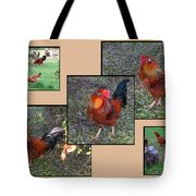 Rooster Red Tote Bag