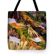 Root Vegetables At The Market Tote Bag