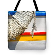 Rope And Boat Detail Tote Bag