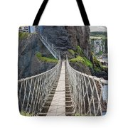 Rope Bridge At Carrick-a-rede In Northern Island Tote Bag