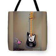 Rose And Bass Guitar Tote Bag