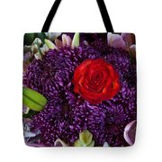 Rose Center Of Attention Tote Bag