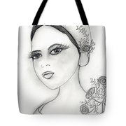 Rose Flapper Tote Bag