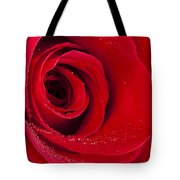 Rose Macro Wet 1 C Tote Bag