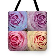 Rose Spiral Colorful Mix Tote Bag