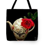 Rose With China Teapot Tote Bag