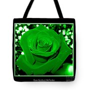 Rose With Green Coloring Added Tote Bag