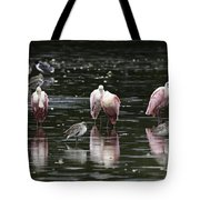 Roseate Reflections - Spoonbill Nature Scene Tote Bag