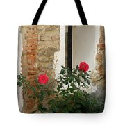 Roses And Antiquity  Tote Bag