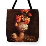 Roses In Urn Tote Bag