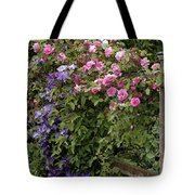 Roses On The Fence Tote Bag