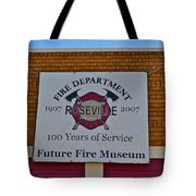 Roseville Fire Department Museum Tote Bag