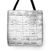 Rossini Manuscript Page Tote Bag