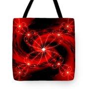 Rouge Et Noir Avec Blanc Tote Bag