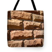 Rough Hewn Sandstone Brick Wall Of A Historic Building Tote Bag