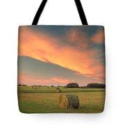 Round Hay Bales Tote Bag