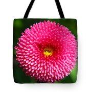 Round Pink Flower Tote Bag