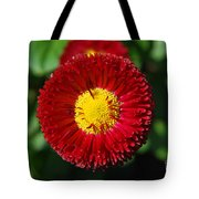 Round Red Flower Tote Bag
