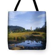 Round Tower In The Forest Glendalough Tote Bag