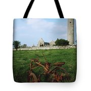 Round Tower, Kilmacduagh Near Gort, Co Tote Bag