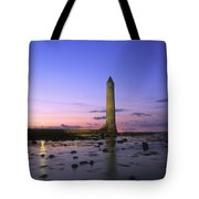 Round Tower, Larne, Co Antrim, Ireland Tote Bag