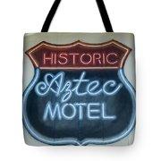 Route 66 Aztec Hotel Mural Tote Bag