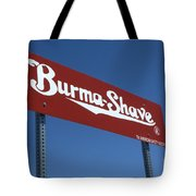 Route 66 Burma Shave Tote Bag