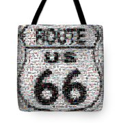 Route 66 Coke Ford Mustang Mosaic Tote Bag