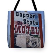 Route 66 Copper State Motel Tote Bag