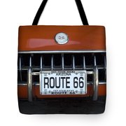 Route 66 Corvette Grill Tote Bag