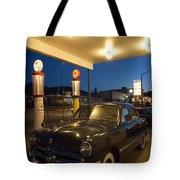Route 66 Garage Scene Tote Bag