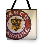 Route 66 Gasoline Sign Tote Bag
